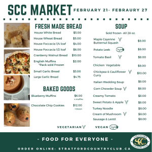 Market, Takeout Items available February 21-27. Food at Home. Takeout